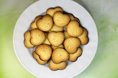 małe słodkie rzeczy w talerzu Obraz Royalty Free