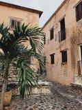 Małe ulicy jak grodzki Alt De Chavon w republice dominikańskiej zdjęcia royalty free