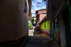 Małe ulicy wioska zdjęcia royalty free