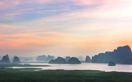 Małe wyspy wokoło z morzem Fotografia Royalty Free