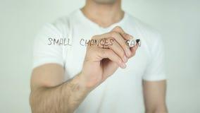 Małe zmiany mogą Robić Dużej różnicie, Pisze Na Przejrzystym ekranie zdjęcie wideo