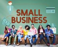 Małego Biznesu Nyżowego rynku produktów posiadania przedsiębiorca Conc Obrazy Stock