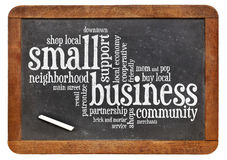 Małego biznesu słowa chmura Zdjęcie Stock