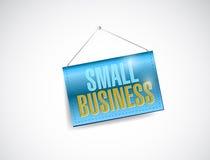 Małego biznesu wiszący sztandar royalty ilustracja