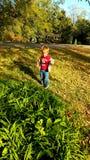 małego faceta duży świat Fotografia Royalty Free