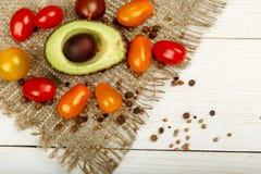 Małego Kolorowego Heirloom Czereśniowi pomidory Obraz Royalty Free