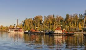 Małej łódki schronienie zdjęcie royalty free