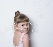 Małej dziewczynki balerina zdjęcie royalty free