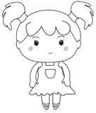 Małej dziewczynki kolorystyki strona Fotografia Royalty Free