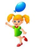 Małej dziewczynki mienia balon Fotografia Royalty Free