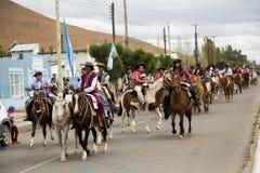 Małomiasteczkowy koński festiwal w Gobernador Costa 2017 Obrazy Royalty Free