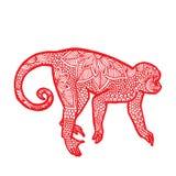 Małpa chińczyka zodiak ilustracji