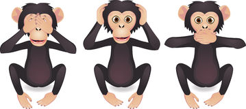 małpa trzy Obrazy Stock