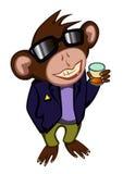 Małpa w okularach przeciwsłonecznych Obraz Stock