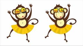 Małpa w okularach przeciwsłonecznych Zdjęcie Royalty Free