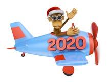 Małpa w samolocie 2020 ilustracji