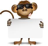 Małpa z okularami przeciwsłonecznymi ilustracja wektor