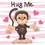 Małpa z sercami royalty ilustracja
