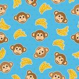 małpi deseniowy bezszwowy Fotografia Royalty Free