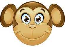 Małpi emoticon Zdjęcie Royalty Free