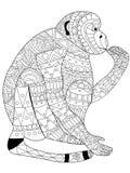 Małpi kolorystyka wektor dla dorosłych royalty ilustracja