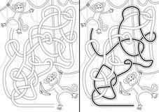 Małpi labirynt royalty ilustracja
