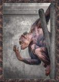 Małpi obwieszenie wokoło obraz stock