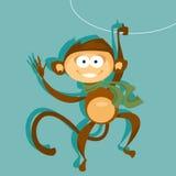 Małpi symbol 2016 również zwrócić corel ilustracji wektora Fotografia Stock