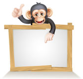 Małpi znak Obraz Royalty Free
