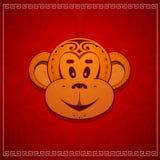 Małpia kreskówka jako symbol dla roku 2016 Zdjęcia Stock