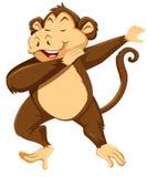 Małpia odrobina na białym tle royalty ilustracja