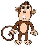 Małpia pozycja zaskakująca Zdjęcia Royalty Free