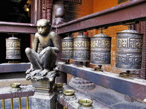 Małpia rzeźba obraz royalty free