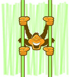 Małpia Wisząca kreskówka Obrazy Royalty Free