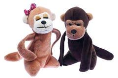 małpie miękkie zabawki Obrazy Royalty Free