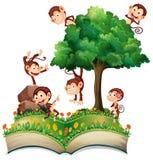 Małpy i drzewo Obrazy Royalty Free