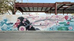 Małpy i squirl malowidła ściennego biskupa sztuki okręg, Dallas, Teksas Obraz Stock