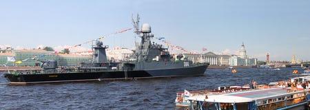 Mały łódź podwodna statek Urengoy petersburg Rosji st Zdjęcia Royalty Free