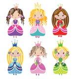 Mały ładny princess zestaw Obraz Royalty Free