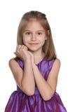 mały śliczny portret dziewczyny zdjęcia royalty free