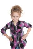 mały śliczny portret dziewczyny obrazy royalty free