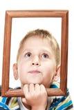 Mały śmieszny chłopiec dziecka portret Obrazy Royalty Free