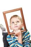 Mały śmieszny chłopiec dziecka portret Fotografia Royalty Free