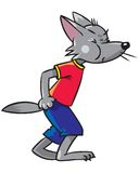 Mały śmieszny wilk Fotografia Stock