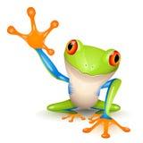 mały żaby drzewo Obraz Royalty Free