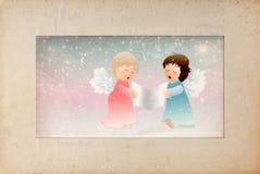 Mały anielski ilustracja wektor