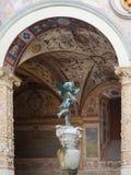 Mały anioł Palazzo Vecchio, Florencja - Obrazy Stock