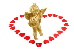 mały anioła złoto zdjęcia royalty free