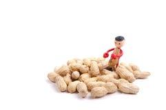 Mały arachidowy mężczyzna między arachidami Obraz Royalty Free