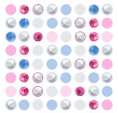 Mały balowy bezszwowy wzór z akwarelą na białym tle Zdjęcie Stock